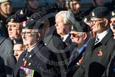Remembrance Sunday at the Cenotaph in London 2014: Group B15 - Army Catering Corps Association. Press stand opposite the Foreign Office building, Whitehall, London SW1, London, Greater London, United Kingdom, on 09 November 2014 at 12:09, image #1663