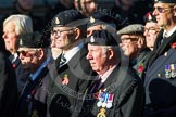 Remembrance Sunday at the Cenotaph in London 2014: Group B15 - Army Catering Corps Association. Press stand opposite the Foreign Office building, Whitehall, London SW1, London, Greater London, United Kingdom, on 09 November 2014 at 12:09, image #1664