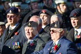Remembrance Sunday at the Cenotaph in London 2014: Group B15 - Army Catering Corps Association. Press stand opposite the Foreign Office building, Whitehall, London SW1, London, Greater London, United Kingdom, on 09 November 2014 at 12:09, image #1665