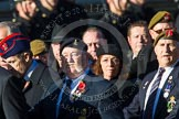 Remembrance Sunday at the Cenotaph in London 2014: Group B16 - Royal Pioneer Corps Association. Press stand opposite the Foreign Office building, Whitehall, London SW1, London, Greater London, United Kingdom, on 09 November 2014 at 12:09, image #1684