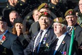 Remembrance Sunday at the Cenotaph in London 2014: Group B16 - Royal Pioneer Corps Association. Press stand opposite the Foreign Office building, Whitehall, London SW1, London, Greater London, United Kingdom, on 09 November 2014 at 12:09, image #1685
