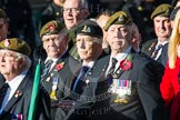 Remembrance Sunday at the Cenotaph in London 2014: Group B16 - Royal Pioneer Corps Association. Press stand opposite the Foreign Office building, Whitehall, London SW1, London, Greater London, United Kingdom, on 09 November 2014 at 12:10, image #1686
