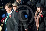 Remembrance Sunday at the Cenotaph in London 2014: Group B17 - Reconnaissance Corps. Press stand opposite the Foreign Office building, Whitehall, London SW1, London, Greater London, United Kingdom, on 09 November 2014 at 12:10, image #1697