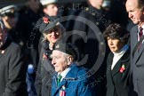 Remembrance Sunday at the Cenotaph in London 2014: Group B17 - Reconnaissance Corps. Press stand opposite the Foreign Office building, Whitehall, London SW1, London, Greater London, United Kingdom, on 09 November 2014 at 12:10, image #1701