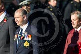 Remembrance Sunday at the Cenotaph in London 2014: Group B17 - Reconnaissance Corps. Press stand opposite the Foreign Office building, Whitehall, London SW1, London, Greater London, United Kingdom, on 09 November 2014 at 12:10, image #1703