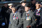 Remembrance Sunday at the Cenotaph in London 2014: Group B18 - Royal Army Medical Corps Association. Press stand opposite the Foreign Office building, Whitehall, London SW1, London, Greater London, United Kingdom, on 09 November 2014 at 12:10, image #1705