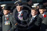 Remembrance Sunday at the Cenotaph in London 2014: Group B18 - Royal Army Medical Corps Association. Press stand opposite the Foreign Office building, Whitehall, London SW1, London, Greater London, United Kingdom, on 09 November 2014 at 12:10, image #1706