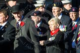 Remembrance Sunday at the Cenotaph in London 2014: Group B18 - Royal Army Medical Corps Association. Press stand opposite the Foreign Office building, Whitehall, London SW1, London, Greater London, United Kingdom, on 09 November 2014 at 12:10, image #1707