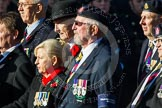 Remembrance Sunday at the Cenotaph in London 2014: Group B18 - Royal Army Medical Corps Association. Press stand opposite the Foreign Office building, Whitehall, London SW1, London, Greater London, United Kingdom, on 09 November 2014 at 12:10, image #1710