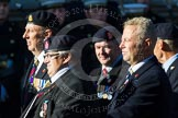 Remembrance Sunday at the Cenotaph in London 2014: Group B18 - Royal Army Medical Corps Association. Press stand opposite the Foreign Office building, Whitehall, London SW1, London, Greater London, United Kingdom, on 09 November 2014 at 12:10, image #1711