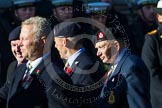 Remembrance Sunday at the Cenotaph in London 2014: Group B18 - Royal Army Medical Corps Association. Press stand opposite the Foreign Office building, Whitehall, London SW1, London, Greater London, United Kingdom, on 09 November 2014 at 12:10, image #1712
