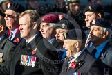 Remembrance Sunday at the Cenotaph in London 2014: Group B19 - Royal Electrical & Mechanical Engineers Association. Press stand opposite the Foreign Office building, Whitehall, London SW1, London, Greater London, United Kingdom, on 09 November 2014 at 12:10, image #1720