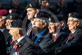Remembrance Sunday at the Cenotaph in London 2014: Group B19 - Royal Electrical & Mechanical Engineers Association. Press stand opposite the Foreign Office building, Whitehall, London SW1, London, Greater London, United Kingdom, on 09 November 2014 at 12:10, image #1721