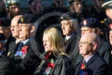 Remembrance Sunday at the Cenotaph in London 2014: Group B19 - Royal Electrical & Mechanical Engineers Association. Press stand opposite the Foreign Office building, Whitehall, London SW1, London, Greater London, United Kingdom, on 09 November 2014 at 12:10, image #1724