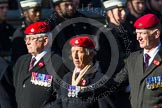 Remembrance Sunday at the Cenotaph in London 2014: Group B20 - Royal Military Police Association. Press stand opposite the Foreign Office building, Whitehall, London SW1, London, Greater London, United Kingdom, on 09 November 2014 at 12:11, image #1732