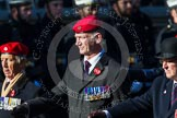 Remembrance Sunday at the Cenotaph in London 2014: Group B20 - Royal Military Police Association. Press stand opposite the Foreign Office building, Whitehall, London SW1, London, Greater London, United Kingdom, on 09 November 2014 at 12:11, image #1733