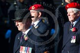 Remembrance Sunday at the Cenotaph in London 2014: Group B20 - Royal Military Police Association. Press stand opposite the Foreign Office building, Whitehall, London SW1, London, Greater London, United Kingdom, on 09 November 2014 at 12:11, image #1734