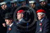 Remembrance Sunday at the Cenotaph in London 2014: Group B20 - Royal Military Police Association. Press stand opposite the Foreign Office building, Whitehall, London SW1, London, Greater London, United Kingdom, on 09 November 2014 at 12:11, image #1735