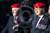 Remembrance Sunday at the Cenotaph in London 2014: Group B20 - Royal Military Police Association. Press stand opposite the Foreign Office building, Whitehall, London SW1, London, Greater London, United Kingdom, on 09 November 2014 at 12:11, image #1736