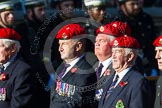 Remembrance Sunday at the Cenotaph in London 2014: Group B20 - Royal Military Police Association. Press stand opposite the Foreign Office building, Whitehall, London SW1, London, Greater London, United Kingdom, on 09 November 2014 at 12:11, image #1737