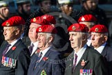 Remembrance Sunday at the Cenotaph in London 2014: Group B20 - Royal Military Police Association. Press stand opposite the Foreign Office building, Whitehall, London SW1, London, Greater London, United Kingdom, on 09 November 2014 at 12:11, image #1738
