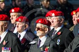 Remembrance Sunday at the Cenotaph in London 2014: Group B20 - Royal Military Police Association. Press stand opposite the Foreign Office building, Whitehall, London SW1, London, Greater London, United Kingdom, on 09 November 2014 at 12:11, image #1739