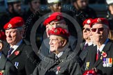 Remembrance Sunday at the Cenotaph in London 2014: Group B20 - Royal Military Police Association. Press stand opposite the Foreign Office building, Whitehall, London SW1, London, Greater London, United Kingdom, on 09 November 2014 at 12:11, image #1740