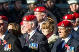 Remembrance Sunday at the Cenotaph in London 2014: Group B20 - Royal Military Police Association. Press stand opposite the Foreign Office building, Whitehall, London SW1, London, Greater London, United Kingdom, on 09 November 2014 at 12:11, image #1742