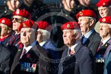 Remembrance Sunday at the Cenotaph in London 2014: Group B20 - Royal Military Police Association. Press stand opposite the Foreign Office building, Whitehall, London SW1, London, Greater London, United Kingdom, on 09 November 2014 at 12:11, image #1750