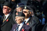 Remembrance Sunday at the Cenotaph in London 2014: Group B22 - Royal Army Pay Corps Regimental Association. Press stand opposite the Foreign Office building, Whitehall, London SW1, London, Greater London, United Kingdom, on 09 November 2014 at 12:11, image #1768