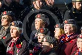 Remembrance Sunday at the Cenotaph in London 2014: Group B25 - Queen Alexandra's Royal Army Nursing Corps Association. Press stand opposite the Foreign Office building, Whitehall, London SW1, London, Greater London, United Kingdom, on 09 November 2014 at 12:11, image #1789