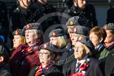 Remembrance Sunday at the Cenotaph in London 2014: Group B25 - Queen Alexandra's Royal Army Nursing Corps Association. Press stand opposite the Foreign Office building, Whitehall, London SW1, London, Greater London, United Kingdom, on 09 November 2014 at 12:11, image #1790