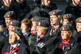 Remembrance Sunday at the Cenotaph in London 2014: Group B25 - Queen Alexandra's Royal Army Nursing Corps Association. Press stand opposite the Foreign Office building, Whitehall, London SW1, London, Greater London, United Kingdom, on 09 November 2014 at 12:11, image #1791
