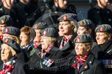 Remembrance Sunday at the Cenotaph in London 2014: Group B25 - Queen Alexandra's Royal Army Nursing Corps Association. Press stand opposite the Foreign Office building, Whitehall, London SW1, London, Greater London, United Kingdom, on 09 November 2014 at 12:11, image #1792