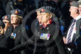 Remembrance Sunday at the Cenotaph in London 2014: Group B25 - Queen Alexandra's Royal Army Nursing Corps Association. Press stand opposite the Foreign Office building, Whitehall, London SW1, London, Greater London, United Kingdom, on 09 November 2014 at 12:11, image #1796