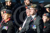 Remembrance Sunday at the Cenotaph in London 2014: Group B25 - Queen Alexandra's Royal Army Nursing Corps Association. Press stand opposite the Foreign Office building, Whitehall, London SW1, London, Greater London, United Kingdom, on 09 November 2014 at 12:11, image #1797