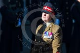 Remembrance Sunday at the Cenotaph in London 2014: Group B25 - Queen Alexandra's Royal Army Nursing Corps Association. Press stand opposite the Foreign Office building, Whitehall, London SW1, London, Greater London, United Kingdom, on 09 November 2014 at 12:11, image #1800