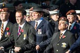 Remembrance Sunday at the Cenotaph in London 2014: Group B29 - Queen's Royal Hussars (The Queen's Own & Royal Irish). Press stand opposite the Foreign Office building, Whitehall, London SW1, London, Greater London, United Kingdom, on 09 November 2014 at 12:12, image #1831