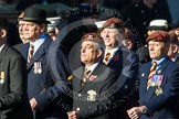 Remembrance Sunday at the Cenotaph in London 2014: Group B29 - Queen's Royal Hussars (The Queen's Own & Royal Irish). Press stand opposite the Foreign Office building, Whitehall, London SW1, London, Greater London, United Kingdom, on 09 November 2014 at 12:12, image #1832