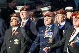 Remembrance Sunday at the Cenotaph in London 2014: Group B29 - Queen's Royal Hussars (The Queen's Own & Royal Irish). Press stand opposite the Foreign Office building, Whitehall, London SW1, London, Greater London, United Kingdom, on 09 November 2014 at 12:12, image #1833