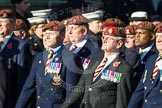 Remembrance Sunday at the Cenotaph in London 2014: Group B29 - Queen's Royal Hussars (The Queen's Own & Royal Irish). Press stand opposite the Foreign Office building, Whitehall, London SW1, London, Greater London, United Kingdom, on 09 November 2014 at 12:12, image #1834