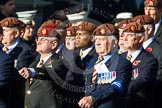Remembrance Sunday at the Cenotaph in London 2014: Group B29 - Queen's Royal Hussars (The Queen's Own & Royal Irish). Press stand opposite the Foreign Office building, Whitehall, London SW1, London, Greater London, United Kingdom, on 09 November 2014 at 12:12, image #1835