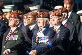 Remembrance Sunday at the Cenotaph in London 2014: Group B29 - Queen's Royal Hussars (The Queen's Own & Royal Irish). Press stand opposite the Foreign Office building, Whitehall, London SW1, London, Greater London, United Kingdom, on 09 November 2014 at 12:12, image #1836