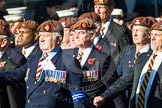 Remembrance Sunday at the Cenotaph in London 2014: Group B29 - Queen's Royal Hussars (The Queen's Own & Royal Irish). Press stand opposite the Foreign Office building, Whitehall, London SW1, London, Greater London, United Kingdom, on 09 November 2014 at 12:12, image #1837