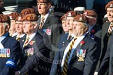 Remembrance Sunday at the Cenotaph in London 2014: Group B29 - Queen's Royal Hussars (The Queen's Own & Royal Irish). Press stand opposite the Foreign Office building, Whitehall, London SW1, London, Greater London, United Kingdom, on 09 November 2014 at 12:12, image #1838