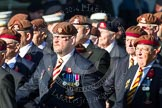Remembrance Sunday at the Cenotaph in London 2014: Group B29 - Queen's Royal Hussars (The Queen's Own & Royal Irish). Press stand opposite the Foreign Office building, Whitehall, London SW1, London, Greater London, United Kingdom, on 09 November 2014 at 12:12, image #1843