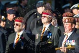 Remembrance Sunday at the Cenotaph in London 2014: Group B29 - Queen's Royal Hussars (The Queen's Own & Royal Irish). Press stand opposite the Foreign Office building, Whitehall, London SW1, London, Greater London, United Kingdom, on 09 November 2014 at 12:12, image #1851