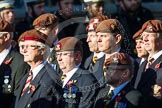 Remembrance Sunday at the Cenotaph in London 2014: Group B29 - Queen's Royal Hussars (The Queen's Own & Royal Irish). Press stand opposite the Foreign Office building, Whitehall, London SW1, London, Greater London, United Kingdom, on 09 November 2014 at 12:12, image #1852