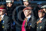 Remembrance Sunday at the Cenotaph in London 2014: Group B29 - Queen's Royal Hussars (The Queen's Own & Royal Irish). Press stand opposite the Foreign Office building, Whitehall, London SW1, London, Greater London, United Kingdom, on 09 November 2014 at 12:12, image #1858