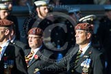 Remembrance Sunday at the Cenotaph in London 2014: Group B29 - Queen's Royal Hussars (The Queen's Own & Royal Irish). Press stand opposite the Foreign Office building, Whitehall, London SW1, London, Greater London, United Kingdom, on 09 November 2014 at 12:12, image #1860